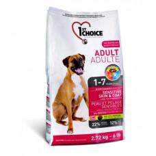 1st Choice - Корм для собак с чувствительной кожей и для шерсти, ягненок с рыбой и рисом (Adult sensitive skin&coat)