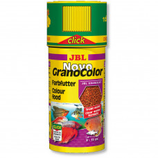 JBL NovoGranoColor CLICK - Осн. корм для ярк. окраски акв. рыб, гранулы, 250 мл (118 г)