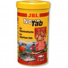 JBL NovoTab - Осн. корм для пресноводных аквариумных рыб, таблетки, 1 л (620 г)