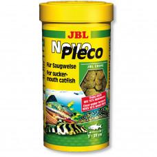 JBL NovoPleco - Осн. корм для кольчужных сомов, тон. чипсы, 250 мл (133 г)