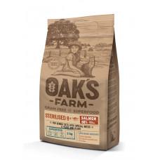 Oaks Farm - Корм для стерилизованных кошек 8+, лосось, беззерновой