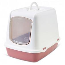 Savic Туалет-домик для кошек OSKAR розовый Earth Collection 50*37*39 см A0265