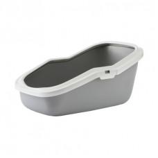Savic - Туалет для кошек, с насадкой, серый, 56x39x27.5см (ASEO)