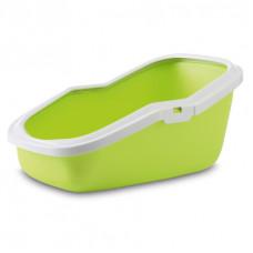 Savic - Туалет для кошек, с насадкой, светло-зеленый, 56x39x27.5см (ASEO)