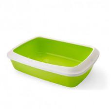 Savic - Туалет для кошек, с насадкой бортиком, светло-зеленый, 42х31х12,5см (IRIZ)