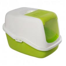 Savic - Туалет-домик для кошек, светло-зеленый, 56x39x38,5см (NESTOR)