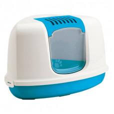 Savic - Туалет-домик для кошек, угловой, синий, 58.5x45,5x40см (NESTOR Corner)