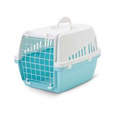 Savic - Переноска для кошек, 49х33х30см, голубая (Retro TROTTER 1)