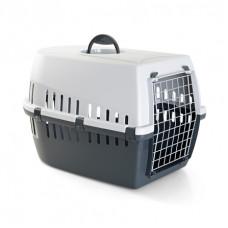 Savic - Переноска для кошек, 60,5х40,5х39см , серая (TROTTER 3)