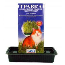 Агроветзащита - Травка для кошек (лоток с питательным субстратом) в красочной упаковке
