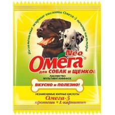 Астрафарм - Омега Neo  витамины для собак и щенков с протеином и L-карнитином,15 таб.(саше)