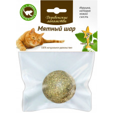 Деревенские лакомства - Игрушка-лакомство для кошек мятный шар