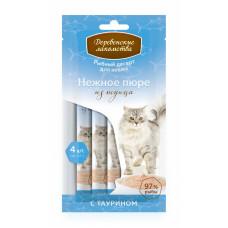 Деревенские лакомства - Нежное пюре для кошек из тунца 1*4шт.