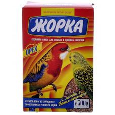 Жорка - Для мелких и средних попугаев с орехами (коробка)