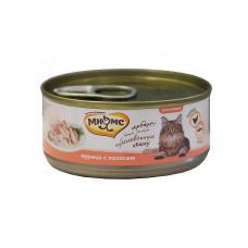 Мнямс консервы для кошек Курица с лососем  в нежном желе