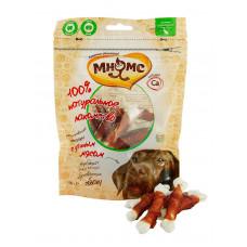Мнямс лакомство для собак кальцинированные косточки с утиным мясом
