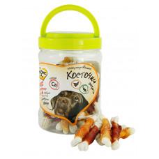 Мнямс лакомство для собак ассорти кальцинированные косточки с куриным и утиным мясом