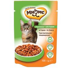 Мнямс паучи для взрослых кошек с кроликом в соусе, чувствительное пищеварение
