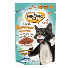 Мнямс паучи для взрослых кошек Рыбный фестиваль (лосось, креветки, форель)