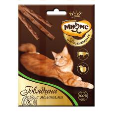 Мнямс Деликатес лакомые палочки 9 см для кошек с говядиной и яблоком 3х4 г