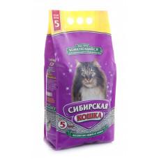 Сибирская кошка - Экстра Комкующийся наполнитель для длинношерстных кошек, 5л