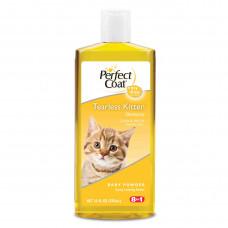 8in1 шампунь для котят PC Tearless Kitten без слез с ароматом детской присыпки 295 мл