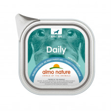 """Almo Nature - Консервы для собак """"Меню с треской и стручковой фасолью"""", паштет (Daily No Gluten Recipe With Cod And Green Beans)"""