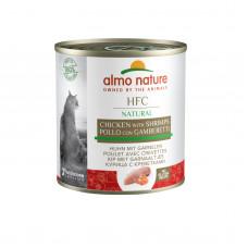 Almo Nature - Консервы для кошек с курицей и креветками (HFC Natural Chicken With Shrimps)