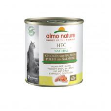 Almo Nature - Консервы для кошек с лососем и курицей, желе (HFC Jelly Salmon And Chicken)