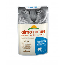 Almo Nature - Паучи для кастрированных кошек с треской (Functional Sterilised with Code)