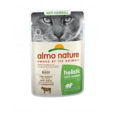 Almo Nature - Паучи с говядиной для вывода шерсти у кошек