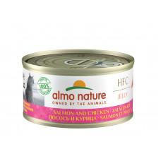 Almo Nature - Консервы с лососем и курицей в желе для кошек (Legend HFC Adult Cat Salmon&Chicken)