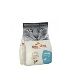 Almo Nature - Корм для взрослых кошек с курицей, для профилактики мочекаменной болезни (Holistic Urinary Help With Fresh Chicken)