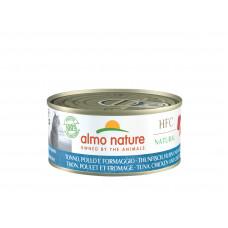 Almo Nature - Консервы для кошек с курицей, тунцом и сыром (HFC Natural - Tuna, Chicken and Cheese)