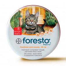 Bayer - Ошейник для кошек от клещей, блох и вшей, 38см (Foresto)