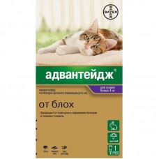 Bayer - Адвантейдж для кошек более 4кг, уп. 1 пип. х 0,8 мл 10747