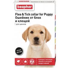 Beaphar - Ошейник для щенков черный от блох и клещей, 65 см (Flea & Tick Collar)