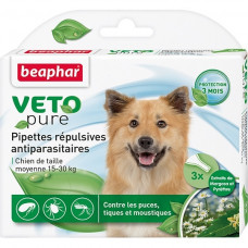 Beaphar - Капли Био от блох и клещей для собак средних пород