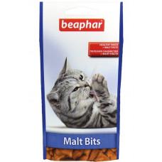 Beaphar - Подушечки Malt Bits Light для вывода шерсти у кошек, склонных к лишнему весу