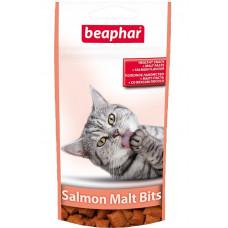 Beaphar -Подушечки Malt Bits Salmon для выведения шерсти из желудка со вкусом лосося