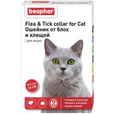 Beaphar -Ошейник от блох и клещей для кошек красный