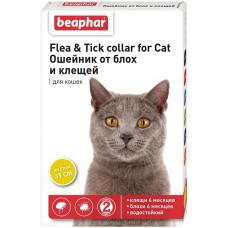 Beaphar -Ошейник от блох и клещей для кошек желтый