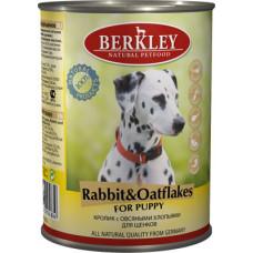 Berkley - Консервы для щенков с кроликом и овсянкой (Puppy Rabbit&Oatflakes)