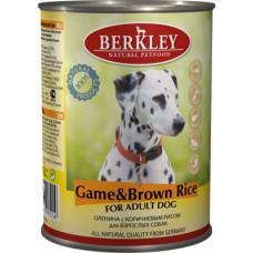 Berkley - Консервы для собак с олениной и коричневым рисом (Adult Game&Brown Rice)