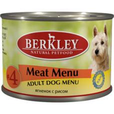 Berkley - Консервы для собак с ягненком и рисом (Adult Meat Menu)