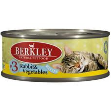 Berkley - Консервы для котят с кроликом и овощами (Kitten Rabbit&Vegetables)