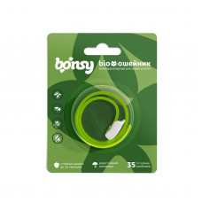 Bonsy - Антипаразитарный БИОошейник для котят и кошек, яблочная нежность, 35 см 36431