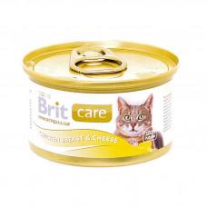 Brit - Консервы для кошек с куриной грудкой и сыром (Chicken Breast& Cheese)