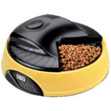 Feedex - Автокормушка на 4 кормления для сухого корма и консервов, с емкостью для льда Желтая