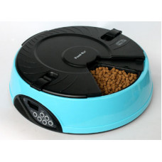 Feedex - Автокормушка на 6 кормлений для сухого корма и консервов, Голубая